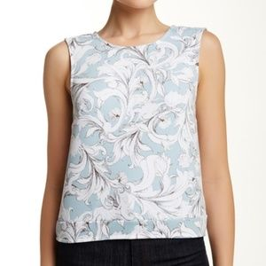 1.State Printed Cropped Blouse XL NWT